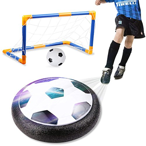 amzdeal Air Football Kit (1 x Hover Ball + 1 Mini Soccer +2 Goal di Calcio +1 Gas Needle),Hover Ball...