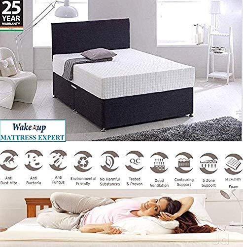 Wake-Up Ortho Memory Foam Mattress, Queen Size, 78x60x8 Inch, White