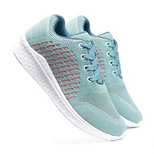 meriggiare® Women Fashion Sneakers Lightweight Sport Gym Jogging Casual Walking Air Cushion Athletic Tennis Running Sports Shoes-Sea Green
