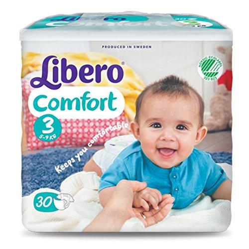 Pannolini Libero Comfort Misura 3 - Kg 4/9 - 180 pezzi (6 pacchi da 30)