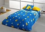 Pokemon.- Juego de Funda nordica Pikachu Evolution para cama de 90 cm (3 piezas)