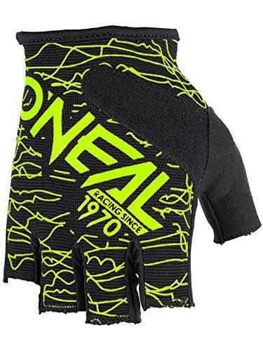 O Neal Guanti Senza Dita Wired Neon Giallo Bicicletta MTB DH BMX FR Enduro Mountain Bike,...