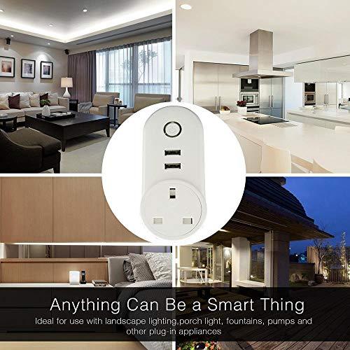 ATOMICO Voyant Lumineux Smart Plug avec minuterie USB Prise de commutateur WiFi Prise de télécommande Commande avec Amazon Alexa/Echo/Google... 28