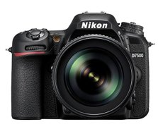 "Nikkon D7500 - Cámara réflex digital de 20.9 Mp (pantalla LCD 3.2"", 4K/UHD, SnapBridge, Bluetooth, Wifi), color negro - kit con objetivo AF-S DX 18-105 mm f/3.5-5.6G ED VR"