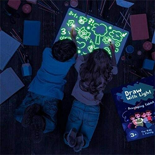 Carsge Bordo di Pittura dei Graffiti della Lavagna Luminosa del Bordo della Pittura dei Bambini...