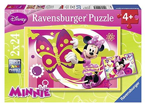 Ravensburger 09047 1 - Minnie Mouse, Puzzle 2x24 Pezzi