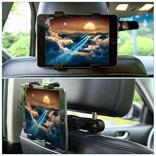 GHB Supporto Tablet Auto Supporto Poggiatesta per iPad Tablet Auto Universale 7' a 10' Rotazione di...