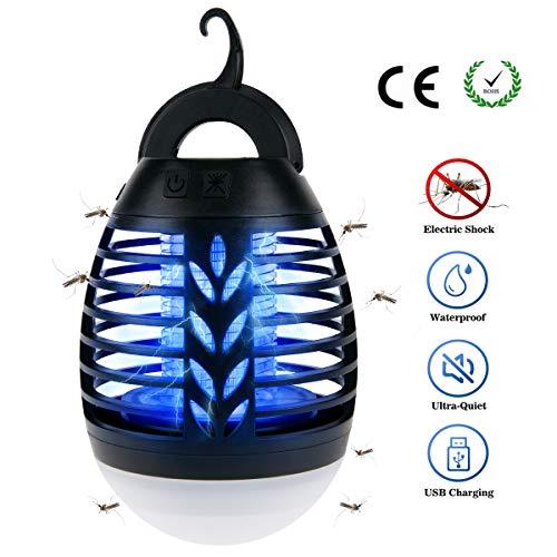 BACKTURE 2-in-1 Lanterna da Campeggio, IPX6 Impermeabile UV Zanzariera Elettrica, Lampada...