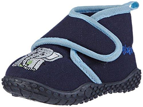 Playshoes Hausschuh Elefant, Pantofole Unisex-Bambini, (Original 900), 22/23 EU