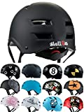 Skullcap® BMX Helm - Skaterhelm - Fahrradhelm - Herren Damen Jungs & Kinderhelm, schwarz, Gr. M (55 - 58 cm), Dark World