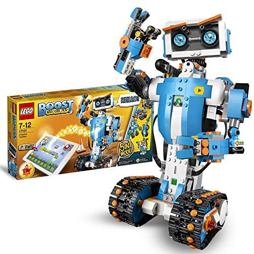 LEGO 17101 Boost Creative Toolbox Robotics Kit, 5 in 1 App Controlled Building Model with Programmable Interactive Robot Toy and Bluetooth Hub, Coding Kits for Kids