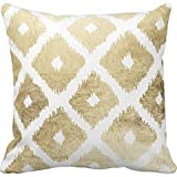 Boho Chic orange saffron red Ikat Tribal Tapestry pillowcase pillow case cover pillowslip 18*18