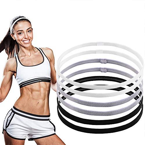 LABOTA 6 Pezzi Non-Scivolo Sport Fasce Capelli Elastico per Football, Basket, Calcio, Tennis, Yoga e...