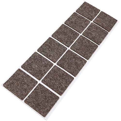 Adsamm - 12 feltrini per mobili, 40 x 40 mm, quadrati, spessore 3 mm, in vero feltro di lana,...
