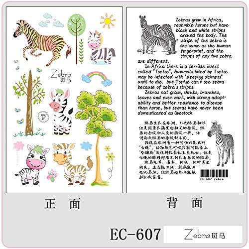 Pegatinas para Tatuajes Infantiles respetuosas con el Medio Ambiente Pegatinas para Tatuajes de Unicornio de Dibujos Animados Originales Tatuajes de Animales temporales 12 12x7.5 cm