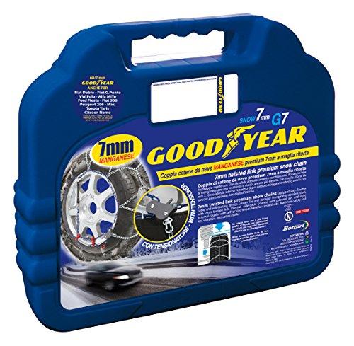 Goodyear 77950 Catene neve 7 mm per auto, Misura 060
