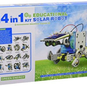 51ieRrIeJWL - CEBEKIT-C9921 CEBEK Kit Educativo Solar 14 EN 1, Color Amarillo (C9921)