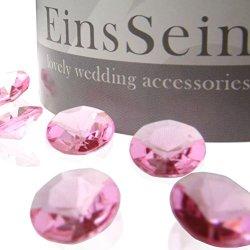 floristikvergleich.de 100x FUNKELNDE Diamantkristalle 12mm rosa EinsSein® Dekoration Dekosteine Diamanten FUNKELNDE Diamantkristalle Streudeko Konfetti Tischdeko Hochzeit
