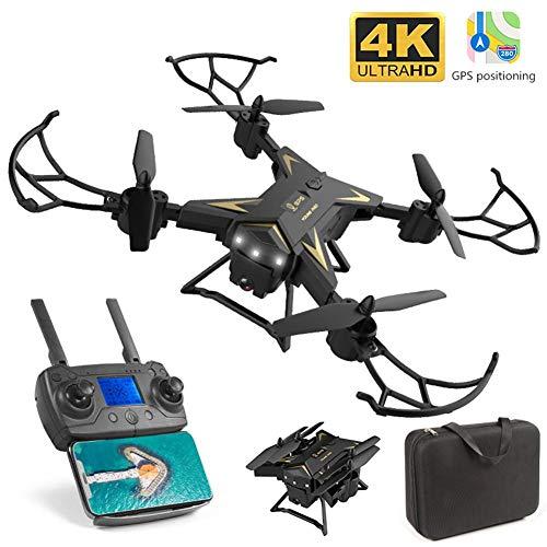 KY601G Drone GPS WiFi 5G con VideoCamera 4K FPV RC 90° Grandangolare Drone Professionale con Funzione Seguimi,RC Quadcopter 3D Flip e Rolls Funzione Holding Altitudine Controllo App One-Key