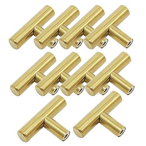 Qqdeal confezione da 10in acciaio INOX spazzolato Hollow t-shaped tira maniglie 5,1cm Heavy Duty...