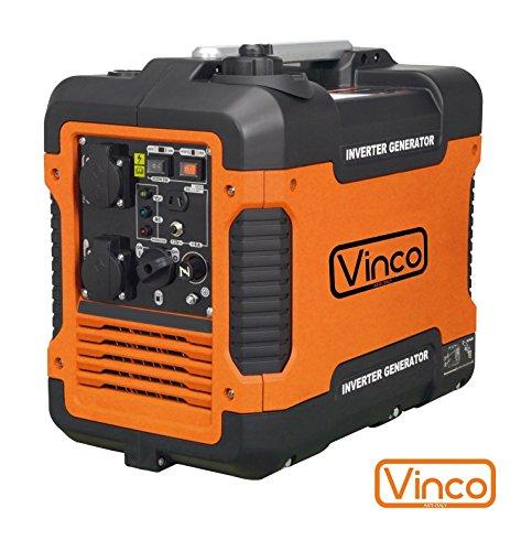 Grupo electrógeno/Generador de corriente Inverter 2000W–220V silenziato Vinco–60156