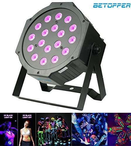Par led Luci discoteca Luci dj DMX 18 * 1W UV LED Luci da discoteca Luci palco Luce discoteca Luci...