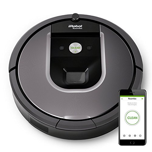 iRobot Roomba 960 Robot Aspirapolvere, Sistema di Pulizia con Dirt Detect e Spazzole Tangle-Free,...