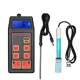 Walmeck pH- / ORP- / TEMP-Meter-Fachmann-Wasser-Detektor Digital-LCD Tri-Meter-Wasser-Qualitäts-Monitor Multiparameter pH Temeperatur-Wasser-Qualitätsprüfvorrichtung 0 ℃ ~ 100 ℃