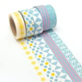 K-LIMIT 5 Set Washi Tape rollos de Washi Tape, cinta decorativa autoadhesivo, cinta de enmascarar, masking tapemasking tape scrapbooking, DIY 9215