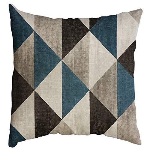 Precioul Kissenbezüge 50x50 cm Qualitäts Kissenhüllen in Segeltuch mit Geometrischen Mustern für Sofa Auto Terrasse Zierkissenbezüge Serie Unregelmäßiges Muster