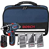 Bosch Professional Akkubohrschrauber-Set GSR 12v-15 12V 39-teiliges Zubehörset, 2x Akku (1,5 Ah)