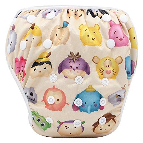 Topgrowth Cover Pannolini Lavabili Neonato Bambini Riutilizzabili Costumi da Bagno Carino Stampato Pantaloni da Nuoto per 0-3 Anni (28)