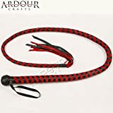 Product review for 04 Feet Long 08 Plait Genuine Real Leather Bull Whip Heavy Duty Bullwhip Black