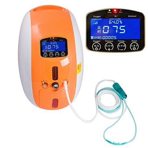 Carejoy 2L Concentrador De Oxígeno doméstico portátil completo con Nebulizador Compacto de trabajo Silencioso