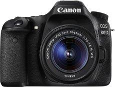 Canon 80D + EF-S 18-55 IS STM - Cámara digital (24.2MP CMOS 6000 x 4000 Pixeles, Auto, Nublado, Modos personalizados, Luz de día, Flash, Fluorescente, Sombra, Tungsteno, Película, Imagen única, Batería, Juego de cámara SLR), color negro