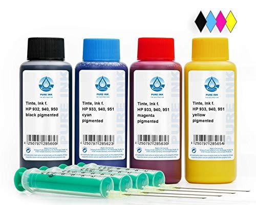 400 ml PureInk inchiostro di ricarica, inchiostro per HP 932, 933, 940, 950, 951 stampante per...