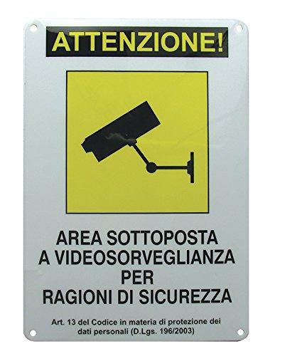 Avidsen 123500 Cartello Area Videosorvegliata, Bianco