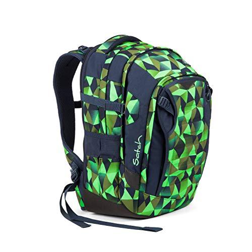 Satch Match Fresh Crush, ergonomischer Schulrucksack, erweiterbar auf 35 Liter, extra Fronttasche, Blau/Grün