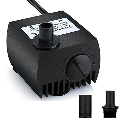 Maxesla Mini Bomba de Agua Ultra Silencioso 300L/H Bomba Sumergible 3W Bomba de Circulación para Pecera Acuario Jardín, Estanque, Fuente