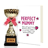 TiedRibbons Gift for mother from daughters Greeting Card with Golden Trophy