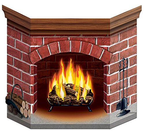 Beistle Brick Fireplace Stand-Up Party Accessory (1 Count) (1/Pkg)