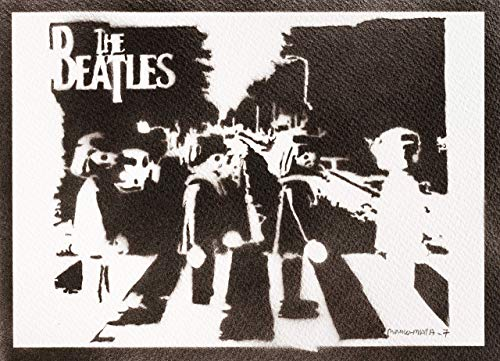 Póster The Beatles Clicks Playmobil Grafiti Hecho A Mano - Handmade Street Art - Artwork