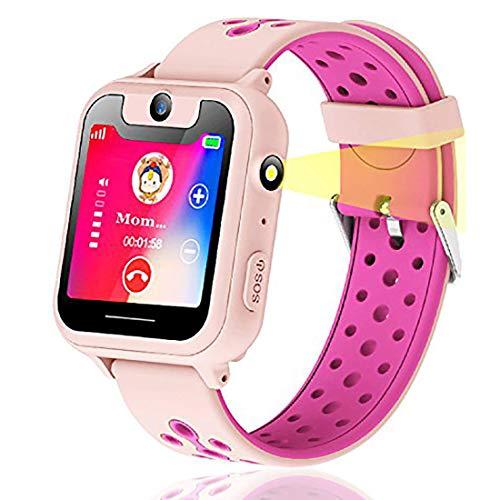Vannico Bambini GPS Smartwatch, localizzatore GPS, SOS gioco di matematica orologio per macchina...