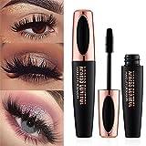 Aolvo 4D Silk Fiber Eyelash Mascara, Extra Long Lash Mascara Waterproof Not...