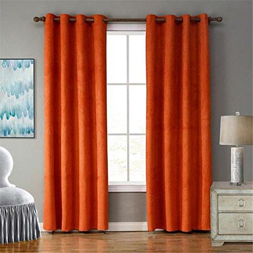 Jiaju Tende Per Finestre Orange Pinzette Semplice Soft Noise Cancelling Protezione Termica Barriera Privacy Camere Da Letto Eco Friendly 52x95inch
