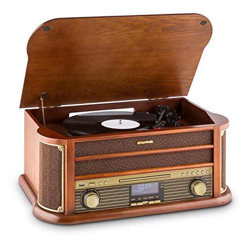 Auna Belle Epoque 1908 - Design retrò , giradischii , Stereo , Radio Digitale , Dab+ , Lettore di...