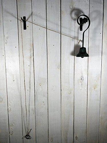 Türglocke mit Seilzug - Nostalgie - Landhausstil Gartenglocke