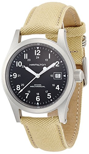 Hamilton Herren Analog Mechanik Uhr mit Stoff Armband H69419933