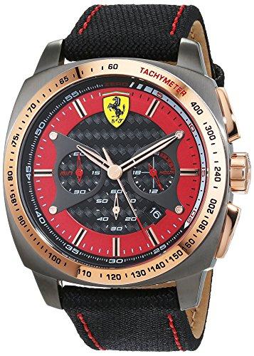 Scuderia Ferrari Orologio Analogico Classico Quarzo Uomo con Cinturino in Nylon 830294