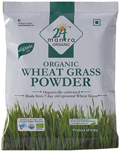 24 Mantra Organic Wheat Grass Powder, 100g